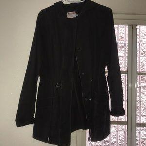 Charcoal grey / black coat